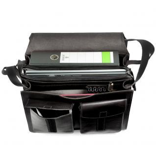 Jahn-Tasche - Große Aktentasche / Lehrertasche Größe XL aus Leder, Schwarz, Modell 675 - Vorschau 2