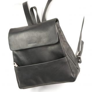 Harolds - Eleganter Lederrucksack Größe M / Rucksack-Handtasche aus Leder, Schwarz, Modell 445125