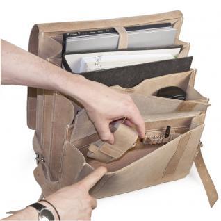 Jahn-Tasche - Sehr Großer Lederrucksack / Lehrer-Rucksack Größe XL aus Büffel-Leder, Creme-Beige, Modell 670 - Vorschau 2