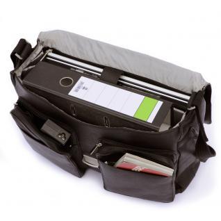 Jahn-Tasche - Elegante Aktentasche Größe L / Laptoptasche bis 15, 6 Zoll, aus Nappa-Leder, Schwarz, Modell 750 - Vorschau 2