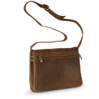 Harolds - Kleine Damen-Handtasche Größe S / Umhängetasche aus Leder, Natur-Braun, Modell 310303 - Vorschau 3