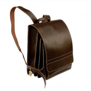 Jahn-Tasche - Sehr Großer Lederrucksack / Lehrer-Rucksack Größe XL aus Leder, Braun, Modell 670