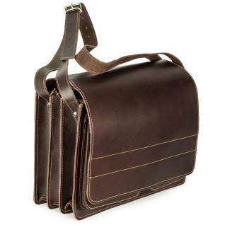 Jahn-Tasche - Sehr Große Aktentasche / Lehrertasche Größe XXL aus Leder, Braun, Modell 677 - Vorschau 2