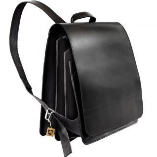Jahn-Tasche - Sehr Großer Lederrucksack / Lehrer-Rucksack Größe XL aus Leder, Schwarz, Modell 670 - Vorschau 3