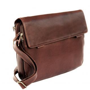 Branco - Elegante Laptoptasche Größe L / Notebooktasche bis 15, 6 Zoll, aus Leder, Braun, Modell br170 - Vorschau 4