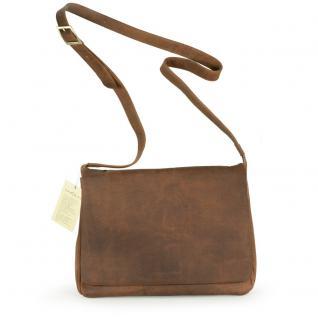 Harolds - Kleine Damen-Handtasche Größe S / Umhängetasche aus Leder, Natur-Braun, Modell 310303 - Vorschau 2
