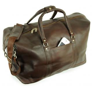 Jahn-Tasche - Große Reisetasche / Weekender Größe L aus Nappa-Leder, Braun, Modell 697