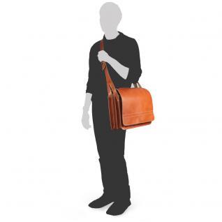 Jahn-Tasche - Große Aktentasche / Lehrertasche Größe XL aus Leder, Cognac-Braun, Modell 676 - Vorschau 5