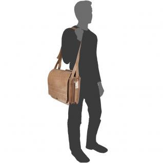 Jahn-Tasche - Große Aktentasche / Lehrertasche Größe XL aus Büffel-Leder, Creme-Beige, Modell 676 - Vorschau 5