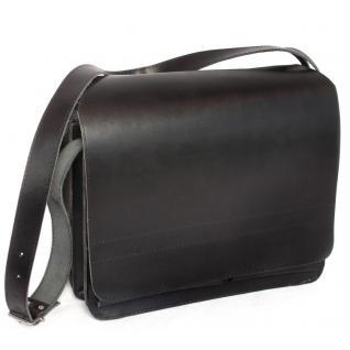 Jahn-Tasche - Große Aktentasche / Lehrertasche Größe XL aus Leder, Schwarz, Modell 675