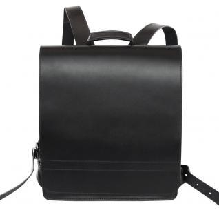 Jahn-Tasche - Sehr Großer Lederrucksack / Lehrer-Rucksack Größe XL aus Leder, Schwarz, Modell 670 - Vorschau 2