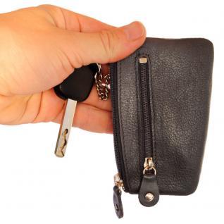 Branco - Schlüsseletui / Schlüsselmäppchen aus Leder, Schwarz, Modell 029