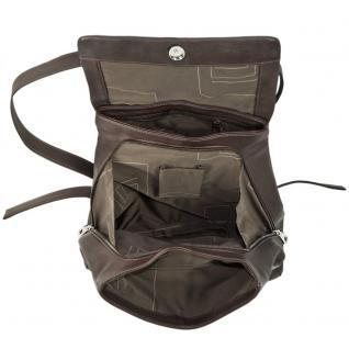 Harolds - Eleganter Lederrucksack Größe M / Rucksack-Handtasche aus Leder, Braun, Modell 445125 - Vorschau 4