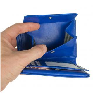 Branco - Große Geldbörse / Portemonnaie Größe L für Herren aus Leder, Hochformat, Azur-Blau, Modell 12005 - Vorschau 5