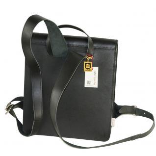 Jahn-Tasche - Mittel-Großer Lederrucksack / Lehrer-Rucksack Größe M aus Leder, Schwarz, Modell 668 - Vorschau 4