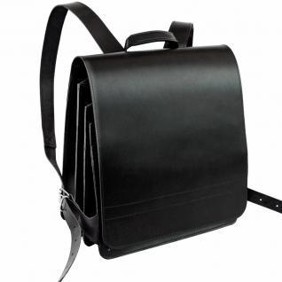 Jahn-Tasche - Sehr Großer Lederrucksack / Lehrer-Rucksack Größe XL aus Leder, Schwarz, Modell 670