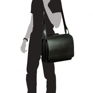 Jahn-Tasche - Große Aktentasche / Lehrertasche Größe XL aus Leder, Schwarz, Modell 676 - Vorschau 5