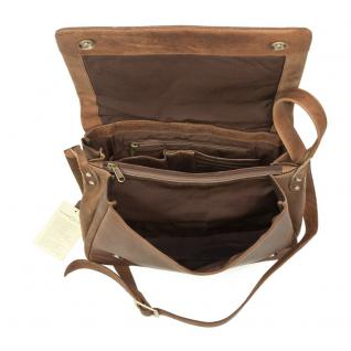 Harolds - Kleine Damen-Handtasche Größe S / Umhängetasche aus Leder, Natur-Braun, Modell 310303 - Vorschau 4