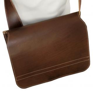 Jahn-Tasche - Umhängetasche Größe M / Messenger Bag aus Leder, Braun, Modell 680