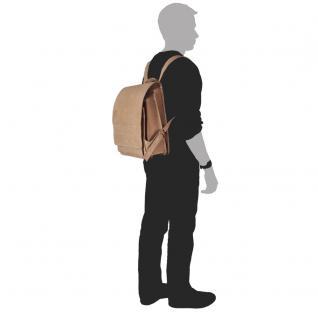 Jahn-Tasche - Sehr Großer Lederrucksack / Lehrer-Rucksack Größe XL aus Büffel-Leder, Creme-Beige, Modell 670 - Vorschau 4