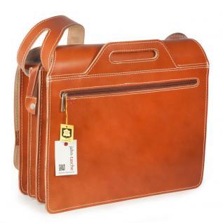 Jahn-Tasche - Große Aktentasche / Lehrertasche Größe XL aus Leder, Cognac-Braun, Modell 676 - Vorschau 4