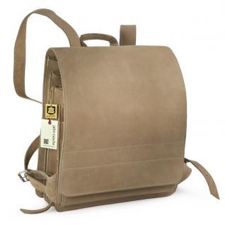 Jahn-Tasche - Sehr Großer Lederrucksack / Lehrer-Rucksack Größe XL aus Büffel-Leder, Creme-Beige, Modell 670