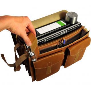 Jahn-Tasche - Sehr Große Aktentasche / Lehrertasche Größe XXL aus Leder, Cognac-Braun, Modell 677 - Vorschau 4