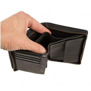 Branco - Große Geldbörse / Portemonnaie Größe L für Herren aus Leder, Hochformat, Schwarz, Modell 35009 - Vorschau 4