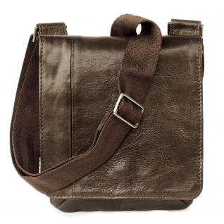 Jahn-Tasche - Kleine Umhängetasche Größe S / Handtasche aus Nappa-Leder, A5 Hochformat, Braun, Modell 418