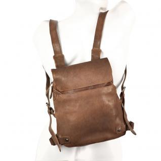 Harolds - Kleiner Lederrucksack Größe S / Rucksack-Handtasche aus Leder, Braun, Modell 223702 - Vorschau 2