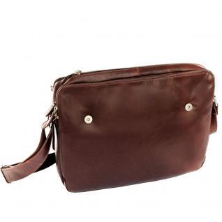 Branco - Elegante Laptoptasche Größe L / Notebooktasche bis 15, 6 Zoll, aus Leder, Braun, Modell br170 - Vorschau 3