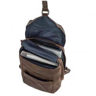 Harolds - Vintage Lederrucksack Größe M / Retro Laptop Rucksack bis 14 Zoll, Braun, Modell 258102 - Vorschau 2