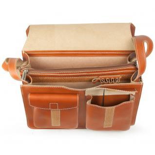 Jahn-Tasche - Große Aktentasche / Lehrertasche Größe XL aus Leder, Cognac-Braun, Modell 675 - Vorschau 2