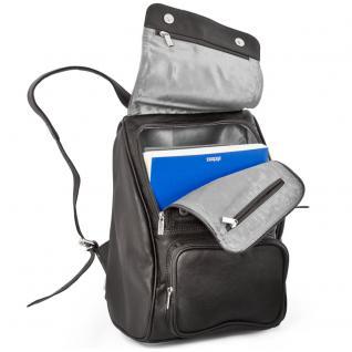 Jahn-Tasche - Mittel-Großer Lederrucksack Größe M / Laptop-Rucksack bis 14 Zoll, Schwarz, Modell 710 - Vorschau 2