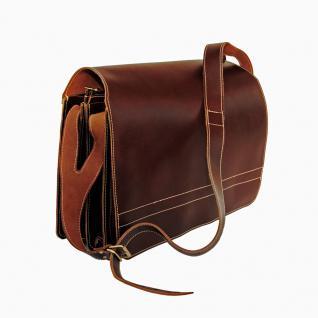 Jahn-Tasche - Sehr Große Aktentasche / Lehrertasche Größe XXL aus Leder, Braun, Modell 677 - Vorschau 3