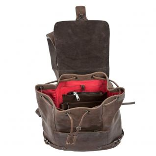 Harolds - Eleganter Lederrucksack / Cityrucksack Größe M aus Leder, Braun, Modell 223902 - Vorschau 4