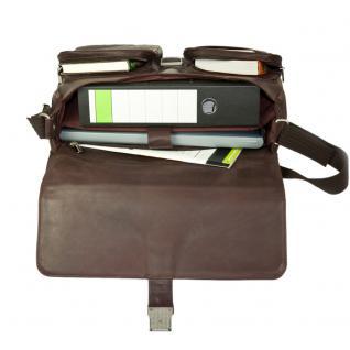 Jahn-Tasche - Elegante Aktentasche Größe L / Laptoptasche bis 15, 6 Zoll, aus Nappa-Leder, Braun, Modell 750 - Vorschau 4