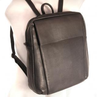Branco - Eleganter Lederrucksack Größe M / Laptop-Rucksack bis 14 Zoll, Schwarz, Modell br171