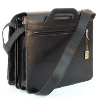 Jahn-Tasche - Große Aktentasche / Lehrertasche Größe XL aus Leder, Schwarz, Modell 676 - Vorschau 3