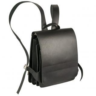Jahn-Tasche - Mittel-Großer Lederrucksack / Lehrer-Rucksack Größe M aus Leder, Schwarz, Modell 668