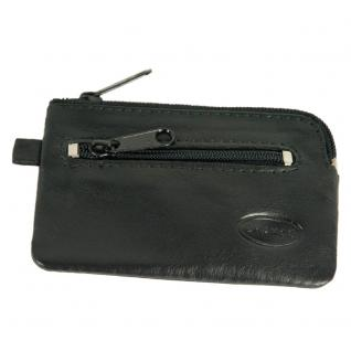 Branco - Kleines Schlüsseletui / Schlüsselmäppchen aus Leder, Schwarz, Modell 019 - Vorschau 5