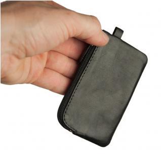Branco - Kleines Schlüsseletui / Schlüsselmäppchen aus Leder, Schwarz, Modell 019 - Vorschau 2