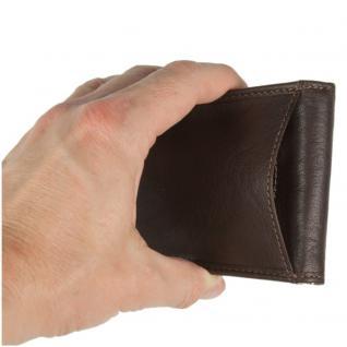 Branco - Kleine Geldklammer Geldbörse / Dollarclip Portemonnaie Größe S für Herren aus Leder, Braun, Modell 16749 - Vorschau 5