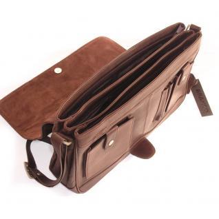 Branco - Damen-Handtasche Größe M / Umhängetasche aus Echt-Leder, Braun, Modell 5584 - Vorschau 4