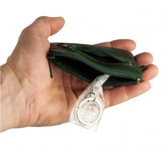 Branco - Kleines Schlüsseletui / Schlüsselmäppchen aus Leder, Jäger-Grün, Modell 019 - Vorschau 4