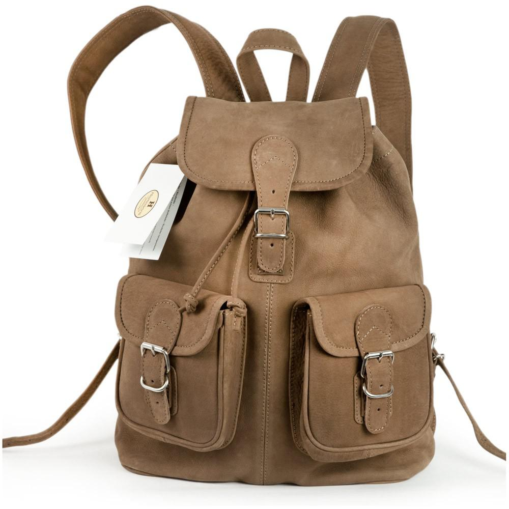 hamosons mittel gro er lederrucksack cityrucksack gr e m aus b ffel leder beige braun. Black Bedroom Furniture Sets. Home Design Ideas