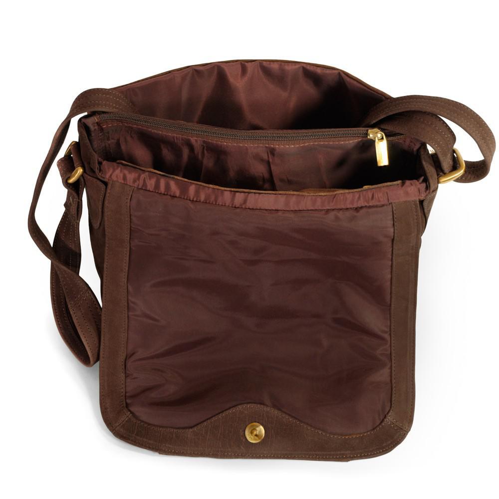 dbba1fbf94a17 ... Hamosons - Damen-Handtasche Größe M   Umhängetasche im Retro-Look aus  Büffel-