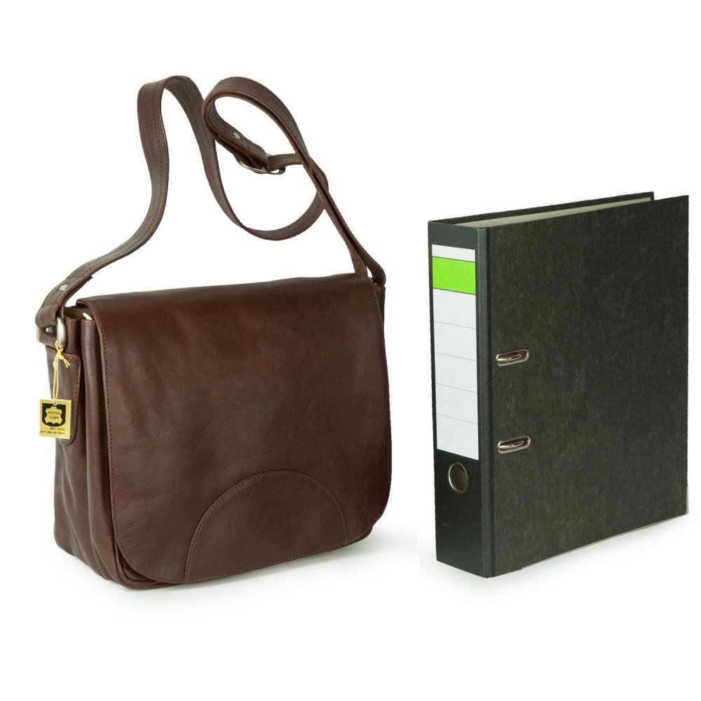 ef59c346c2c65 ... Hamosons - Damen-Handtasche Größe M   Umhängetasche im Retro-Look aus  geöltem Leder ...