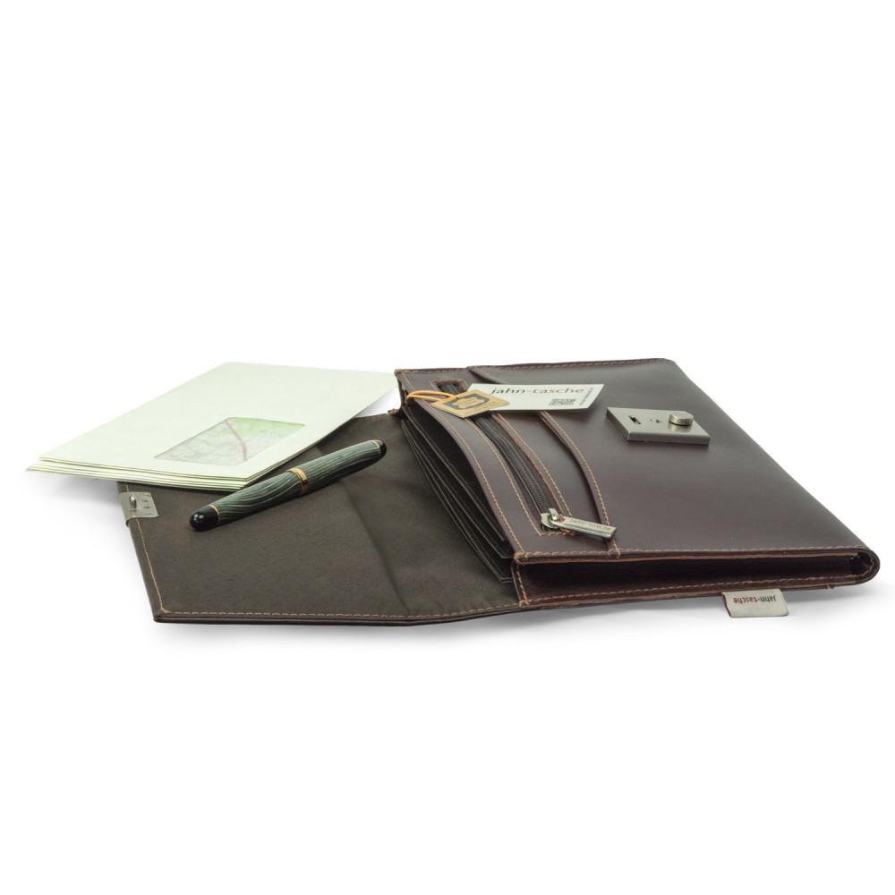 jahn tasche a5 dokumentenmappe dokumententasche aus leder braun modell 1021 kaufen bei. Black Bedroom Furniture Sets. Home Design Ideas