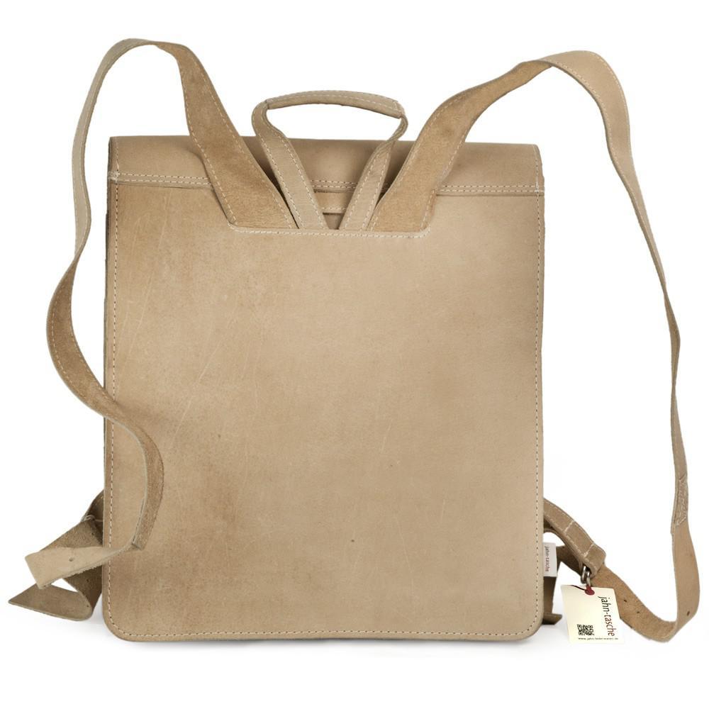 jahn tasche sehr gro er lederrucksack lehrer rucksack gr e xl aus b ffel leder creme beige. Black Bedroom Furniture Sets. Home Design Ideas